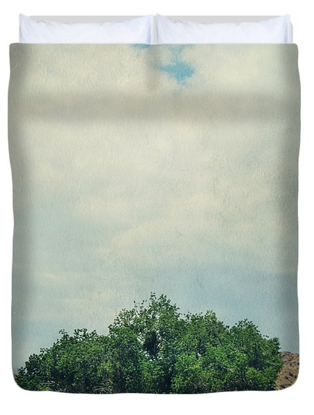 Some Days I Believe Duvet Cover by Laurie Search