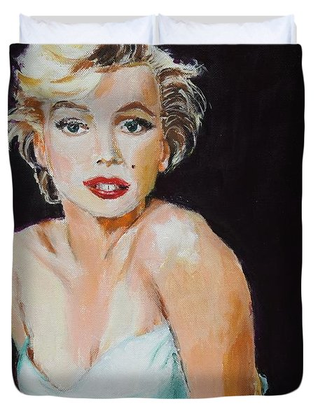 Duvet Cover featuring the painting Some Like It Hot by Judy Kay