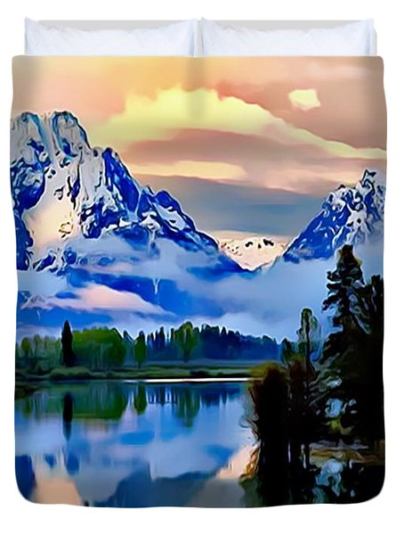 Some Place Some Where Duvet Cover