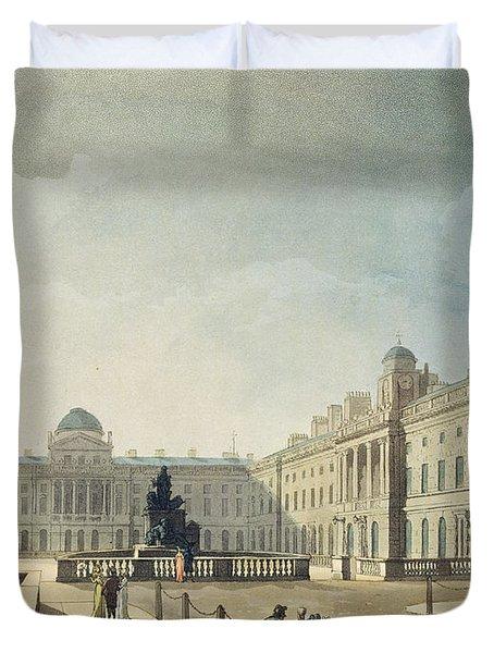 Somerset House, Strand, From Ackermanns Duvet Cover
