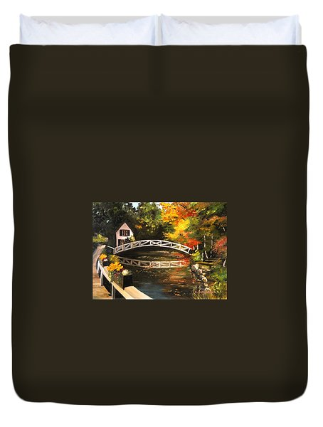 Somesville Maine Footbridge Duvet Cover by Eileen Patten Oliver