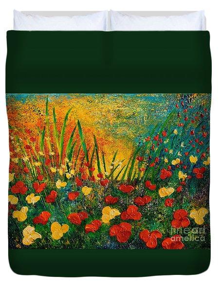 Something I Love Duvet Cover by Teresa Wegrzyn