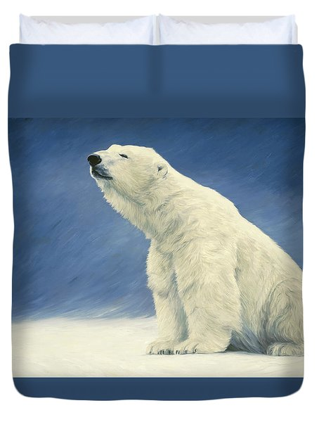Something In The Air Duvet Cover by Lucie Bilodeau