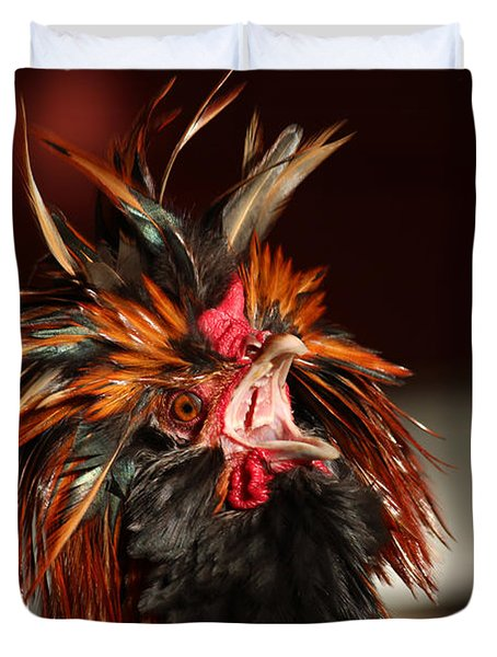 Duvet Cover featuring the photograph Something To Crow About by Lynn Sprowl