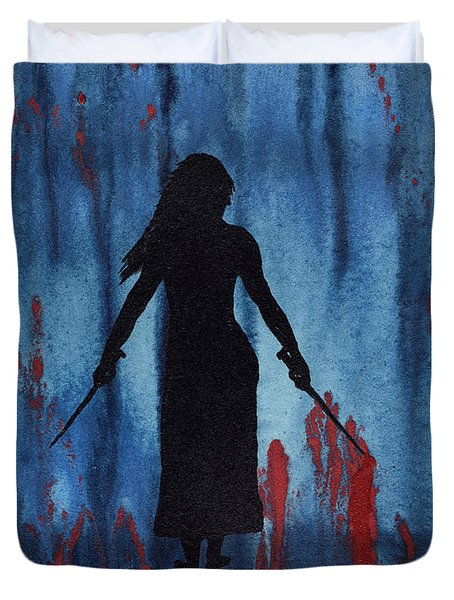 Something Wicked This Way Comes Duvet Cover by Jim Stark