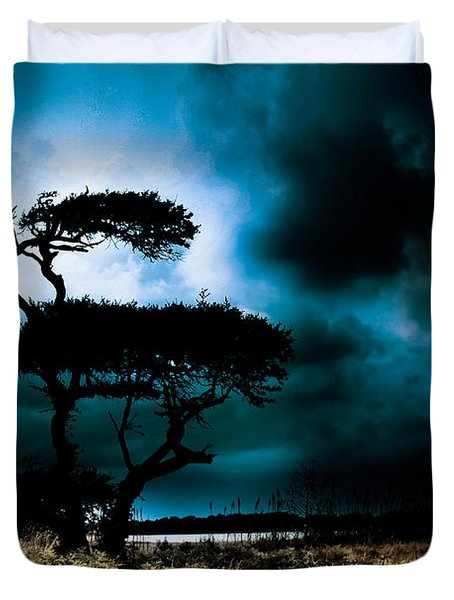 Something Wicked This Way Comes Duvet Cover by Shane Holsclaw
