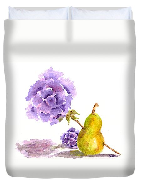 Duvet Cover featuring the painting Sometimes Love Hurts by Paula Ayers