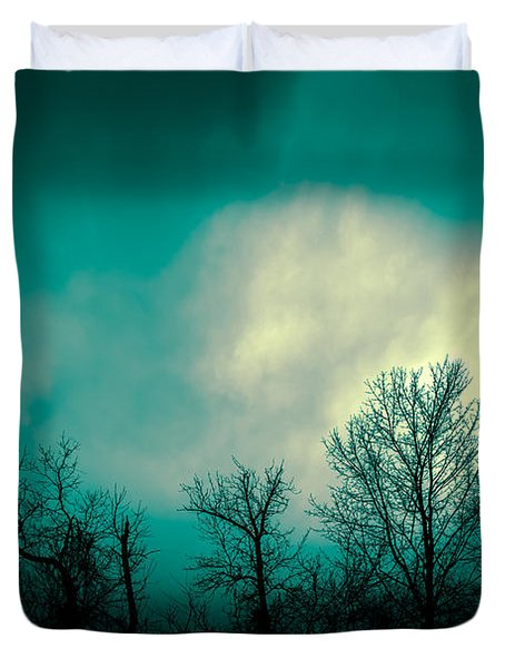 Somewhere Between Here And There Duvet Cover by Bob Orsillo