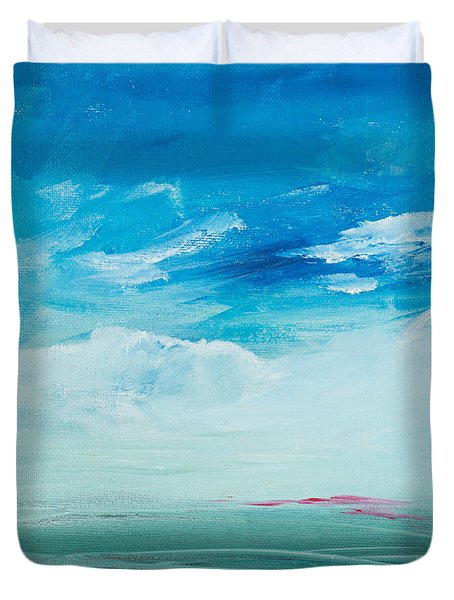 Somewhere Beyond The Sea Duvet Cover by Lee Beuther
