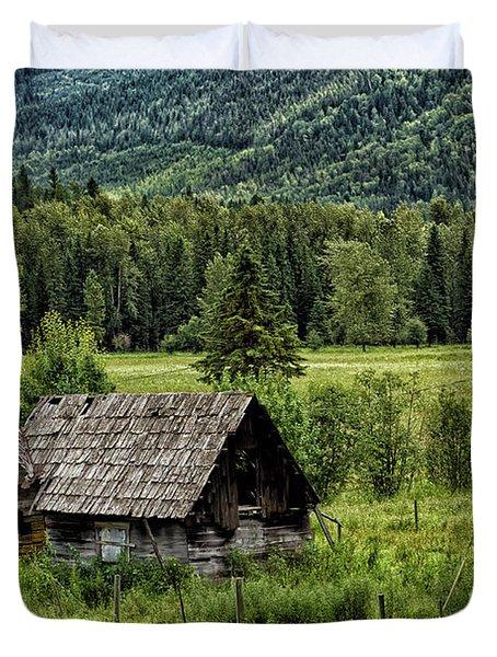 Somewhere In Alberta Duvet Cover