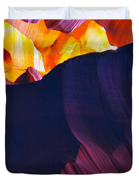 Duvet Cover featuring the photograph Somewhere In America Series - Antelope Canyon by Lilia D