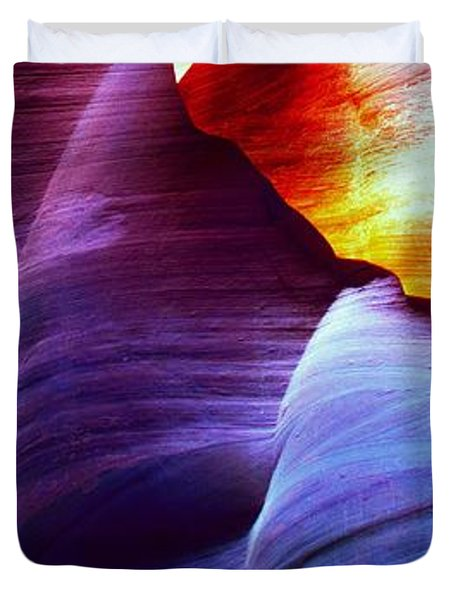 Duvet Cover featuring the photograph Somewhere In America Series - Blue In Antelope Canyon by Lilia D