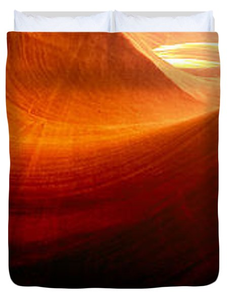Duvet Cover featuring the photograph Somewhere In America Series - Red Waves In Antelope Canyon by Lilia D