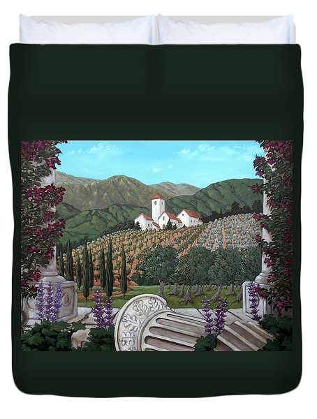 Somewhere In Tuscany Duvet Cover by Gerry High