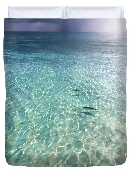 Somewhere Is Rainy. Maldives Duvet Cover