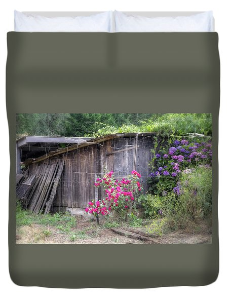 Somewhere Near Geyserville Ca Duvet Cover by Joan Carroll