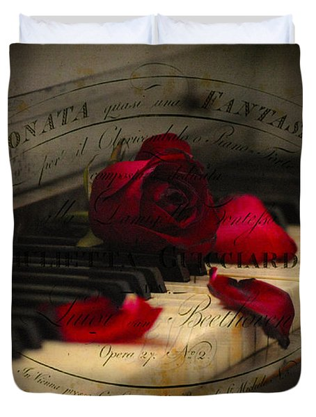 Sonata In Roses Duvet Cover