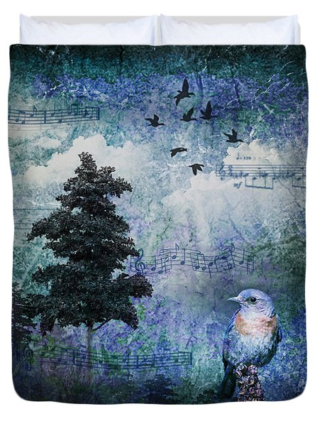 Songbird Duvet Cover by Lianne Schneider