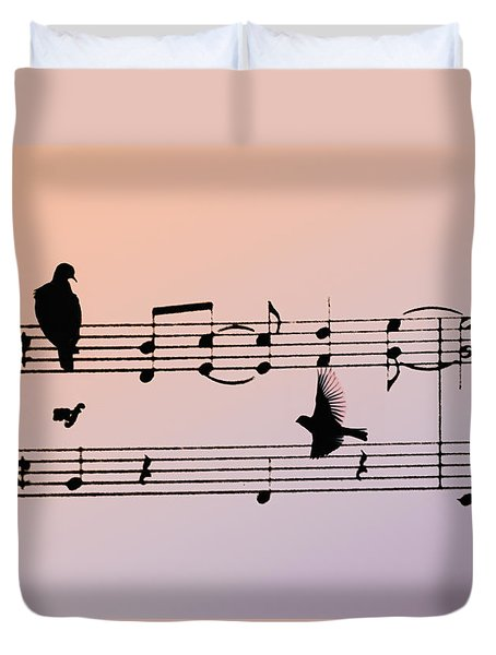 Songbirds Duvet Cover by Bill Cannon