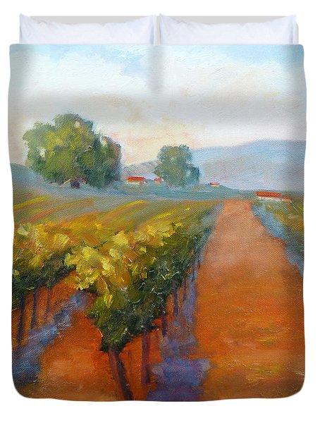 Sonoma Vineyard Duvet Cover by Carolyn Jarvis