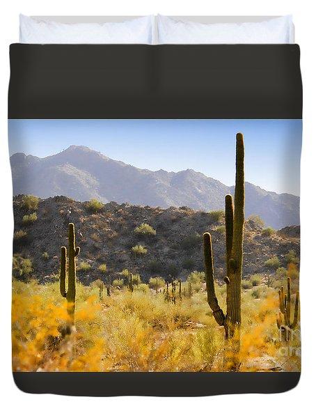 Sonoran Desert Beauty Duvet Cover by Betty LaRue