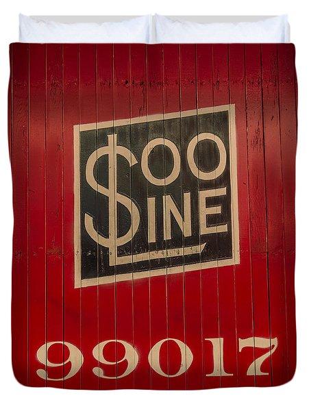 Soo Line Box Car Duvet Cover