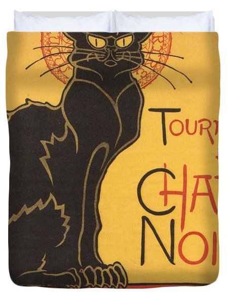 Soon The Black Cat Tour By Rodolphe Salis  Duvet Cover