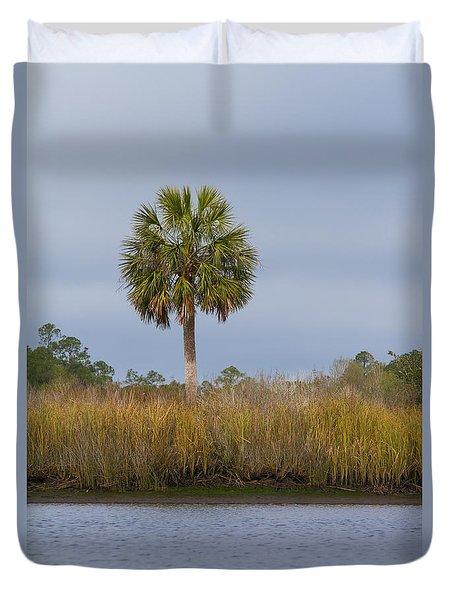 Duvet Cover featuring the photograph Sopchoppy Palm by Paul Rebmann