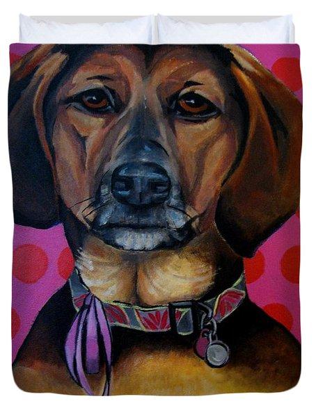 Sophia - My Rescue Dog  Duvet Cover