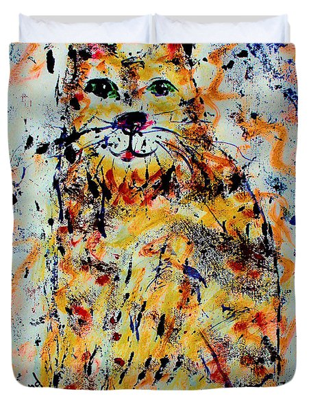 Sophisticated Cat 3 Duvet Cover by Natalie Holland