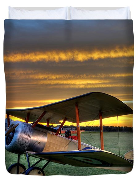 Sopwith Sunset Duvet Cover