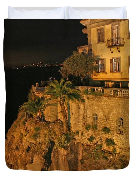Sorrento Italy Duvet Cover by Richard Engelbrecht