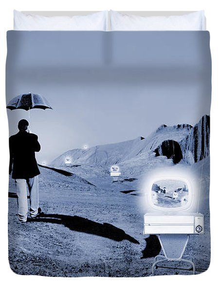 SOS Duvet Cover by Mike McGlothlen