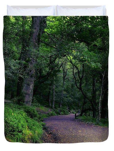 Soul Journey. Glendalough. Ireland Duvet Cover by Jenny Rainbow