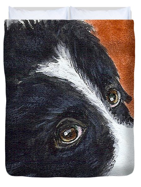 Soulful Eyes Duvet Cover