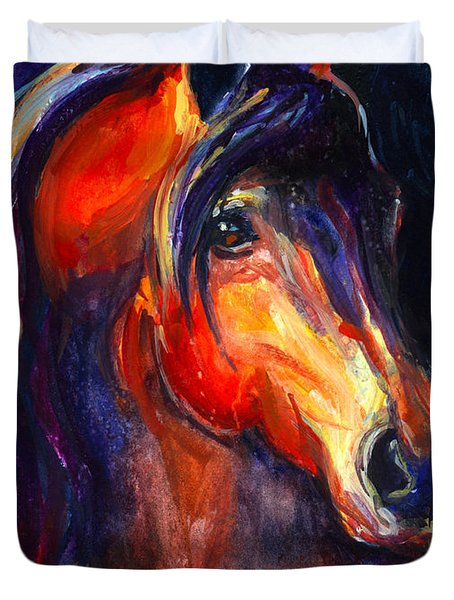 Soulful Horse Painting Duvet Cover