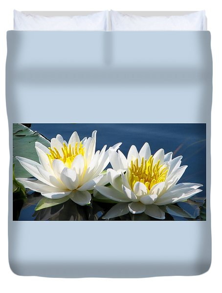 Duvet Cover featuring the photograph Soulmates by Angela Davies