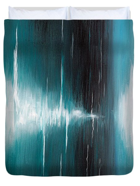 Duvet Cover featuring the painting Hear The Sound by Michelle Joseph-Long