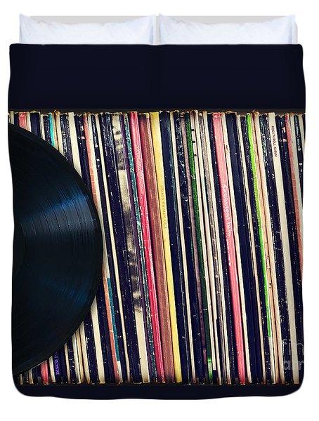 Sound Of Vinyl Duvet Cover