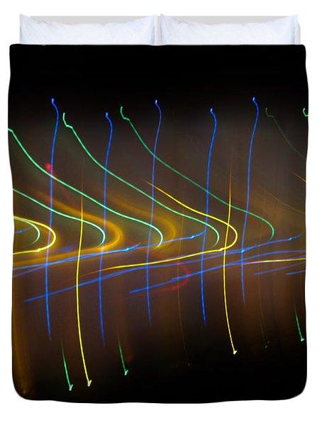 Soundcloud. Dancing Lights Series Duvet Cover by Ausra Huntington nee Paulauskaite