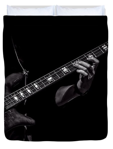 Sounds In The Night Bass Man Duvet Cover