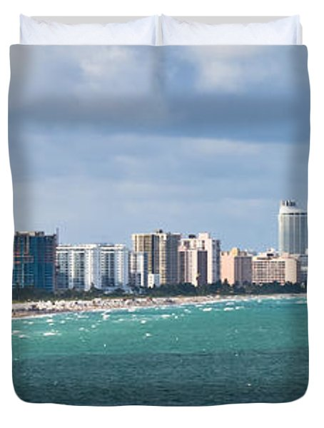 South Beach On A Summer Day Duvet Cover