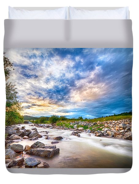 South Boulder Creek Sunset View Rollinsville Colorado Duvet Cover by James BO  Insogna