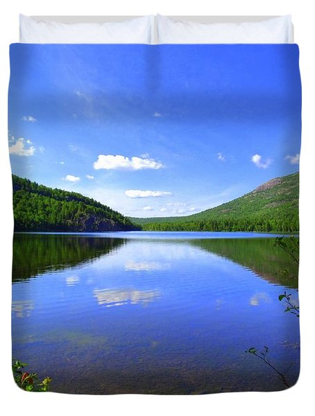 South Branch Pond Duvet Cover by Elizabeth Dow