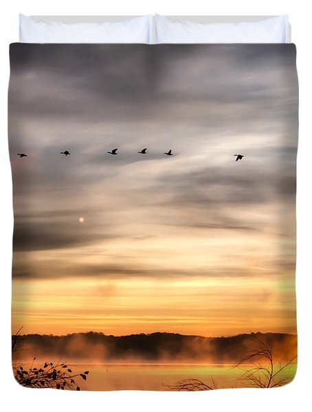South Carolina Morning Duvet Cover by Lynne Jenkins
