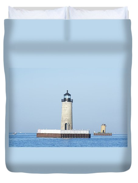 South Channel Lights Duvet Cover
