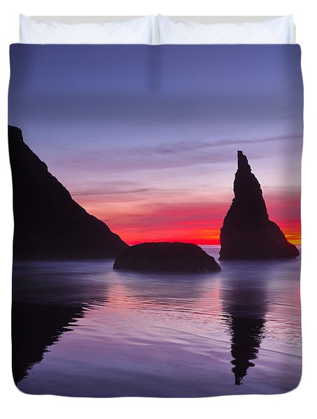 South Coast Reds Duvet Cover by Darren  White