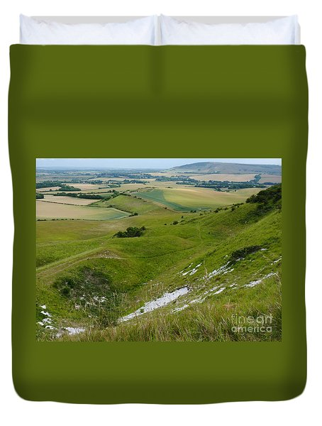Duvet Cover featuring the photograph South Downs - Sussex - England by Phil Banks