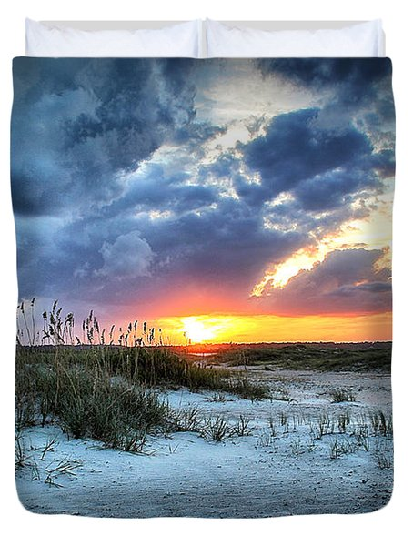 South End Sunset Duvet Cover