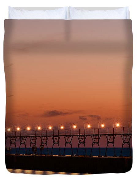 South Haven Reflection Duvet Cover by Sebastian Musial